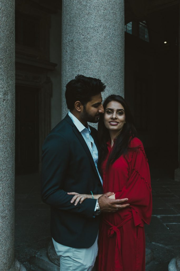 Couple portrait photography in Brera