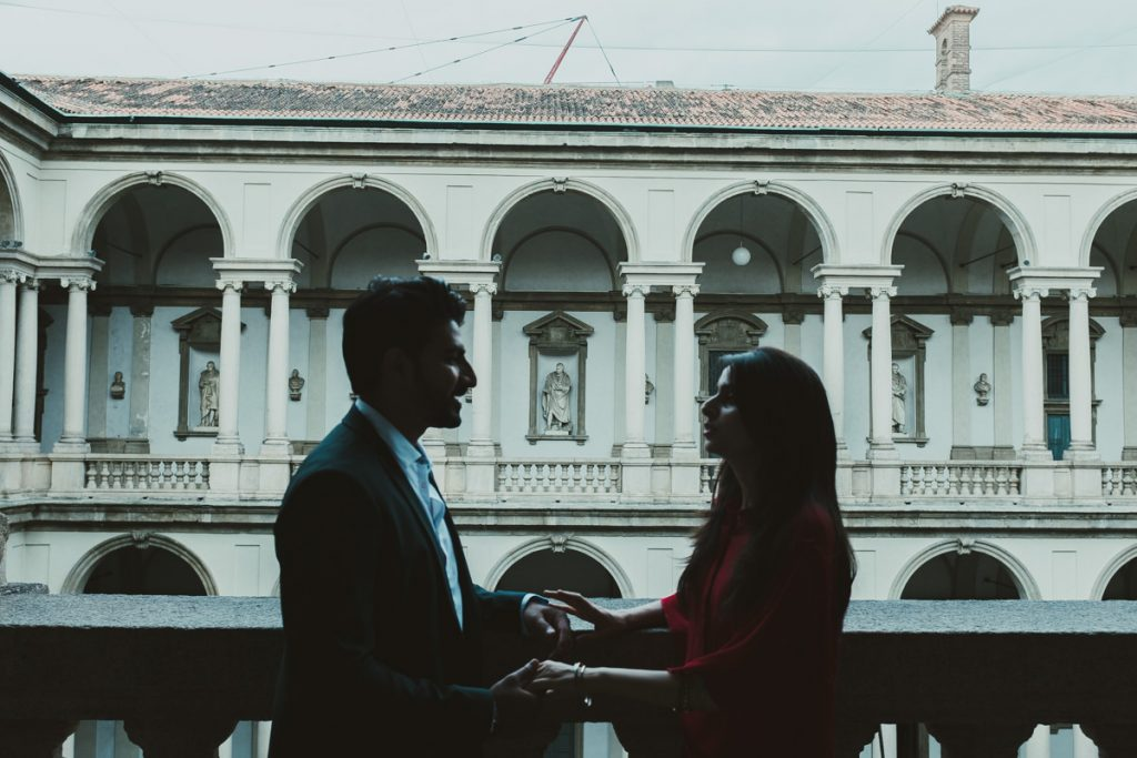 lovely engagement session Accademia Brera