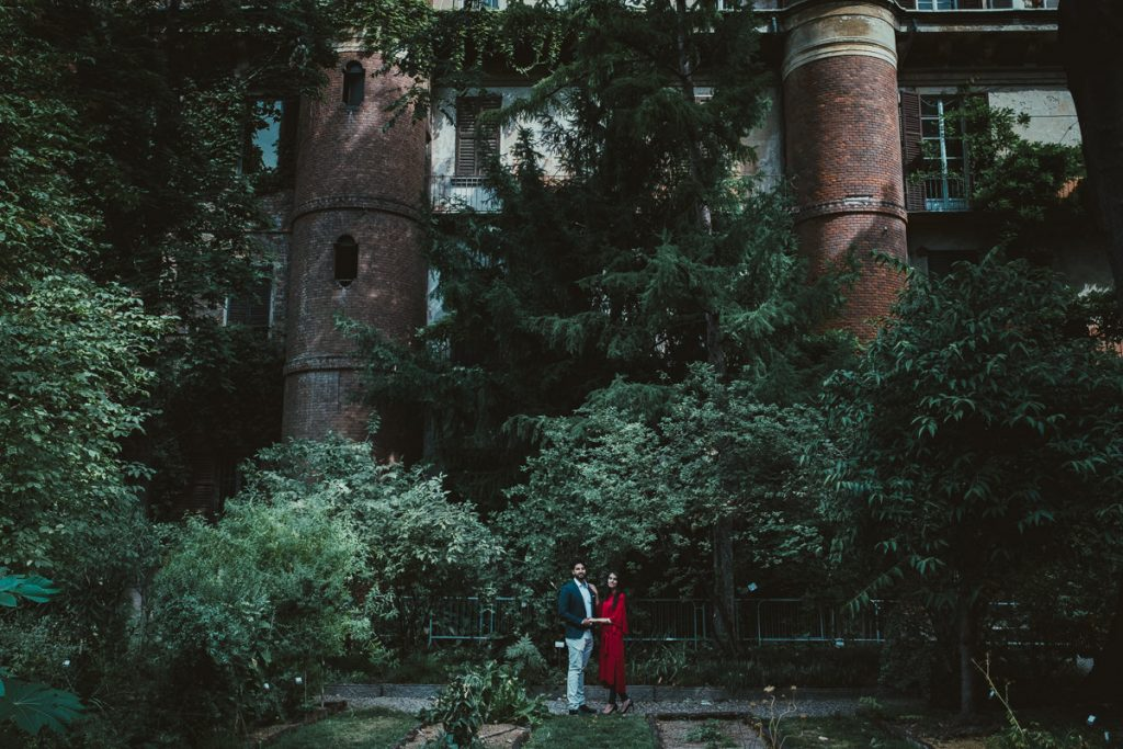 intimate photography in Brera, Botanical Garden