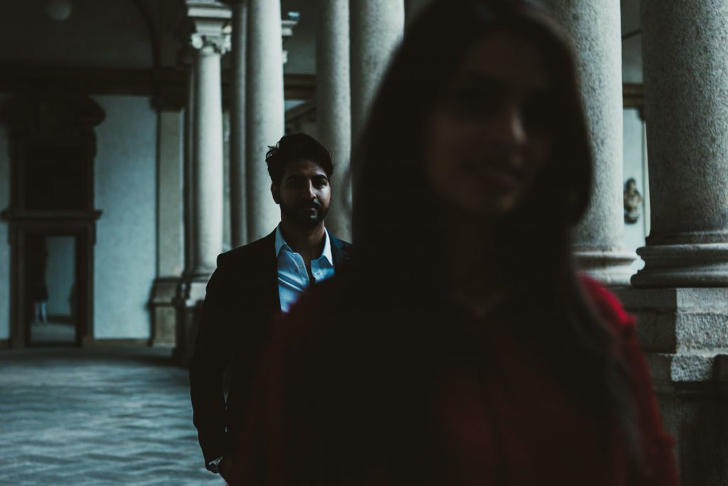 engagement photography in Brera Academy, Milano
