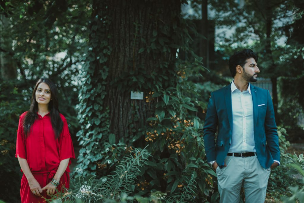 Brera botanical garden engagement